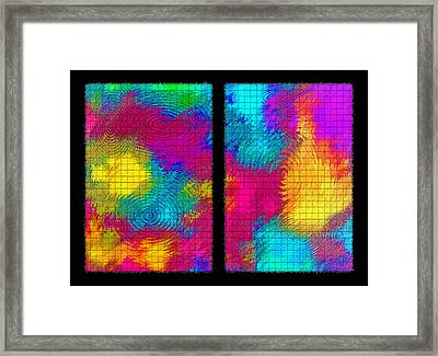 Abstract - Ripples Diptych Framed Print by Steve Ohlsen