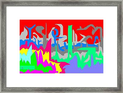 Abstract 10 Landscape Framed Print by Jerry Conner