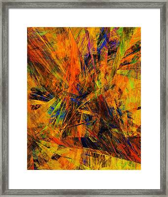Abstract 100611 Framed Print by David Lane