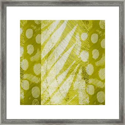 Abstract 204 Green Square Framed Print by Ann Powell