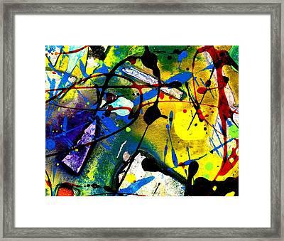 Abstract 55 Framed Print by John  Nolan