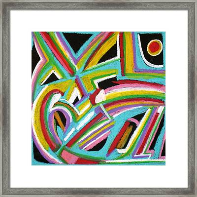 Abstract 6 Framed Print by Sandra Conceicao