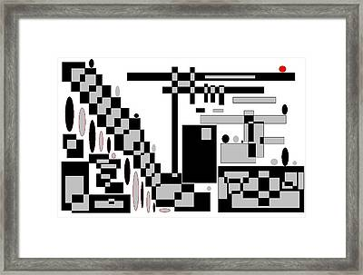 Abstract 6 The Red Ball Framed Print by Jerry Conner