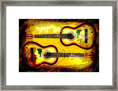 Abstract Acoustic Framed Print by David G Paul