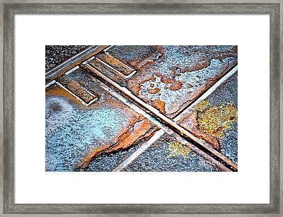 Abstract Among Us Framed Print by Gwyn Newcombe