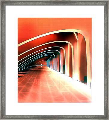 Abstract Arches In A Tunnel Framed Print by Elaine Plesser