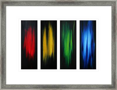 Abstract Art Colorful Original Painting Winter Passion By Madart Framed Print by Megan Duncanson