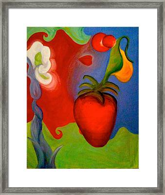 Abstract Art Framed Print by Katie Victoria Tolley