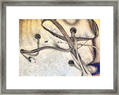Abstract Art Painting Framed Print by Odon Czintos