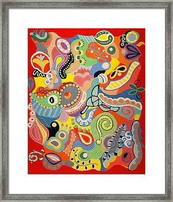 Abstract Art - The Land Of Nod Framed Print by Karyn Robinson