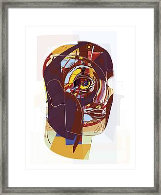 Abstract Artwork Of A Person's Face Framed Print by Paul Brown