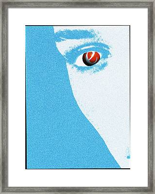 Abstract Artwork Of An Ecstasy Pill In An Eye Framed Print by Victor Habbick Visions