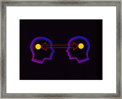 Abstract Artwork Of Communication Between 2 People Framed Print by Laguna Design