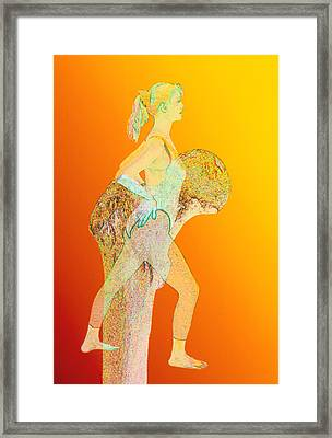 Abstract Artwork Of Osteoporosis Affecting Woman Framed Print by David Gifford