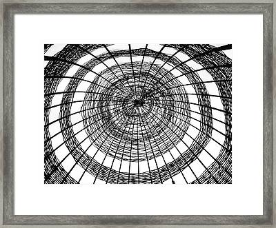 Abstract Bamboo Construction Framed Print by Yali Shi