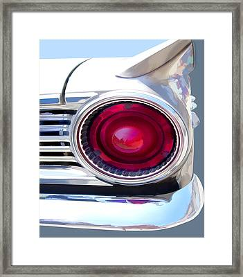 Abstract Car Tailight Framed Print by Elaine Plesser