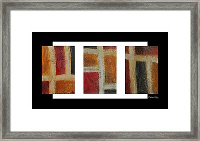 Abstract Collage 1 Framed Print by Xoanxo Cespon