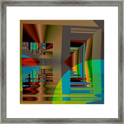 Abstract Colors Framed Print by Mario Carini
