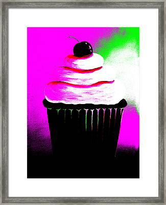 Abstract Cupcakes By Shawna Erback Framed Print by Shawna Erback
