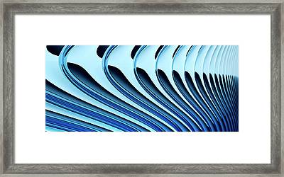 Abstract Curved Lines, Diminishing Perspective Framed Print by Ralf Hiemisch
