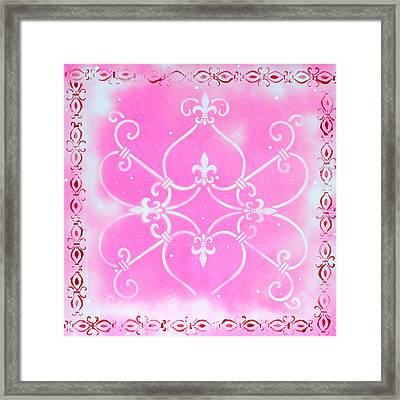 Abstract Decorative Art Original Painting Pink Fantasy By Madart Framed Print by Megan Duncanson