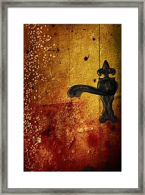 Abstract Door Framed Print by Svetlana Sewell