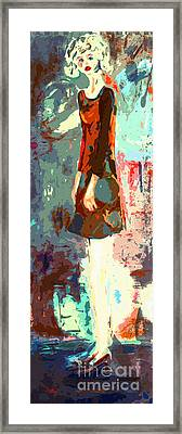 Abstract Figure The Odd Girl By Ginette Framed Print by Ginette Callaway