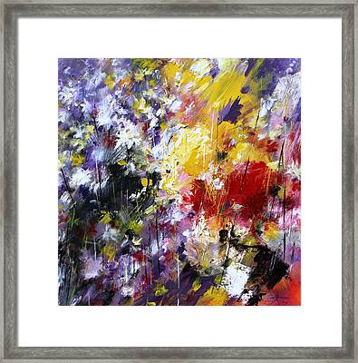 Abstract Flowers Framed Print by Mario Zampedroni