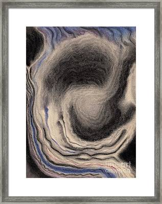 Abstract Geode 3 Framed Print by Christine Perry