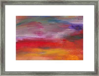 Abstract - Guash And Acrylic - Pleasant Dreams Framed Print by Mike Savad