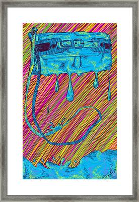 Abstract Handbag Drips Color Framed Print by Pierre Louis