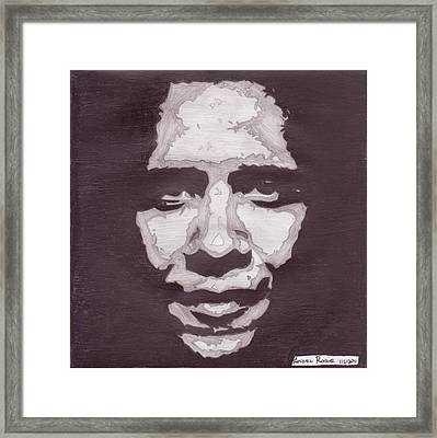Abstract Obama Framed Print by Angel Roque