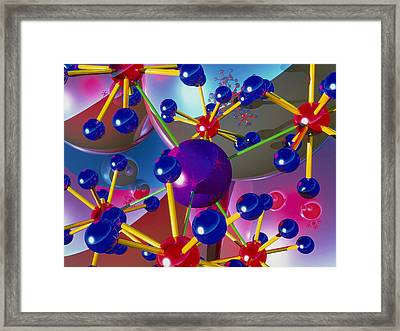 Abstract Of Molecules Framed Print by Roger Harris