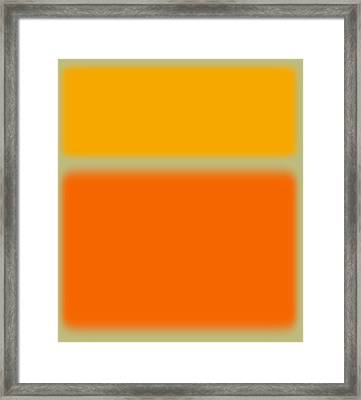 Abstract Orange And Yellow Framed Print by Naxart Studio