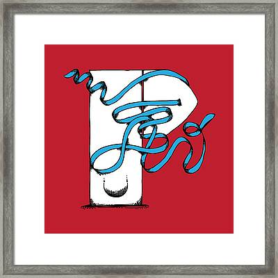 Abstract 'p' Framed Print by Michaela Mitchell