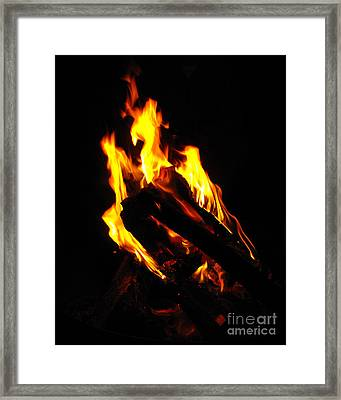 Abstract Phoenix Fire Framed Print by Rebecca Margraf