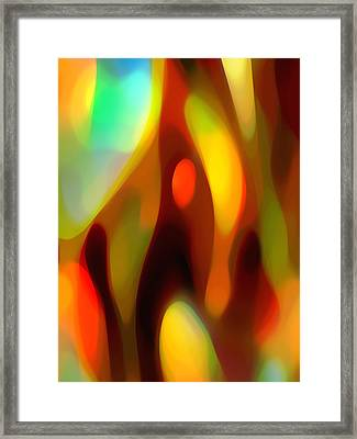 Abstract Rising Up Framed Print by Amy Vangsgard