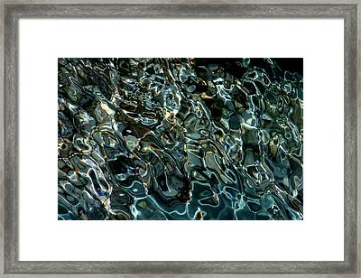 Abstract Sea 4 Framed Print by Arie Arik Chen