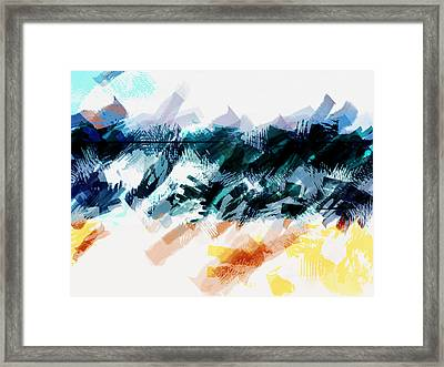 Abstract Sky Sea And Sand Framed Print by Elaine Plesser