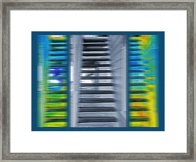 Abstract Staircase Triptych Framed Print by Steve Ohlsen