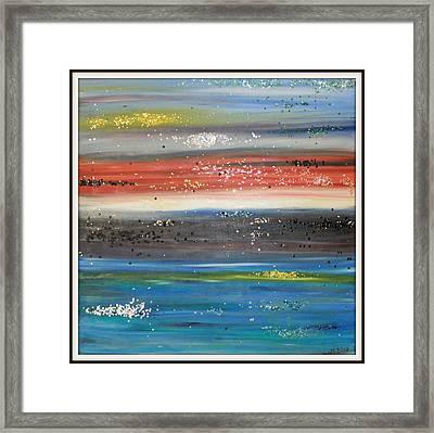 Abstract Sunset Framed Print by Joanna Georghadjis