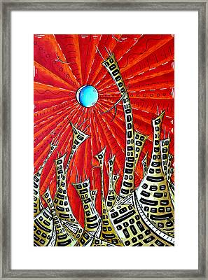 Abstract Surreal Art Original Cityscape Painting The Eternal City By Madart Framed Print by Megan Duncanson