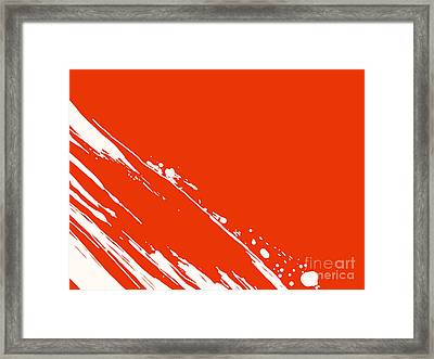 Abstract Swipe Framed Print by Pixel Chimp