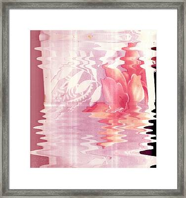 Abstract Vase With Floral Designs Framed Print by Anne-Elizabeth Whiteway