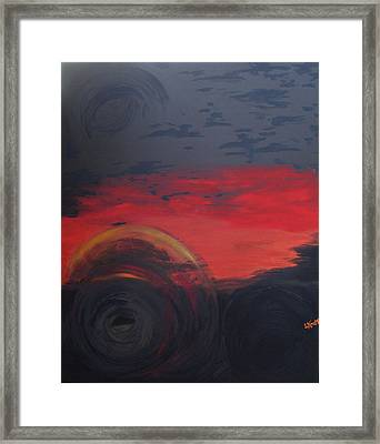Abstract View Framed Print by Lisa Kramer