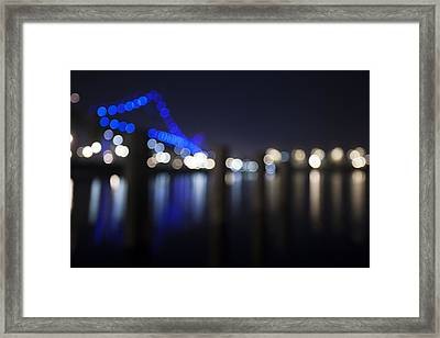 Abstract Vincent Thomas Bridge Framed Print by Mike Raabe
