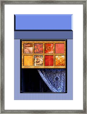 Abstract Window And Lace Curtain Framed Print by Elaine Plesser