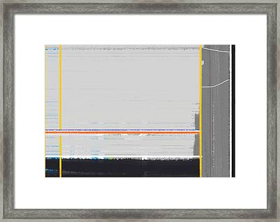 Abstract Yellow Framed Print by Naxart Studio