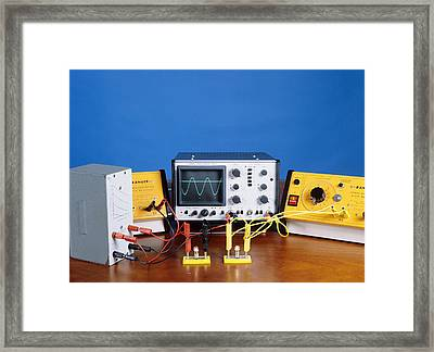 Ac And Dc Power Supplies Framed Print by Andrew Lambert Photography