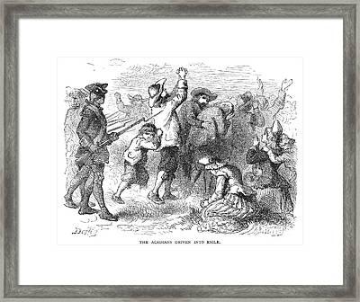 Acadian Expulsion, 1775 Framed Print by Granger